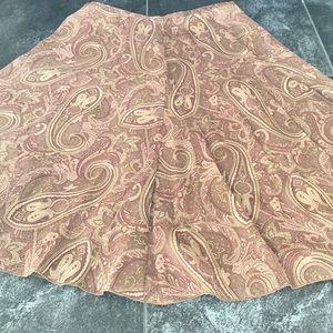 Paisley Silk Handkerchief Skirt